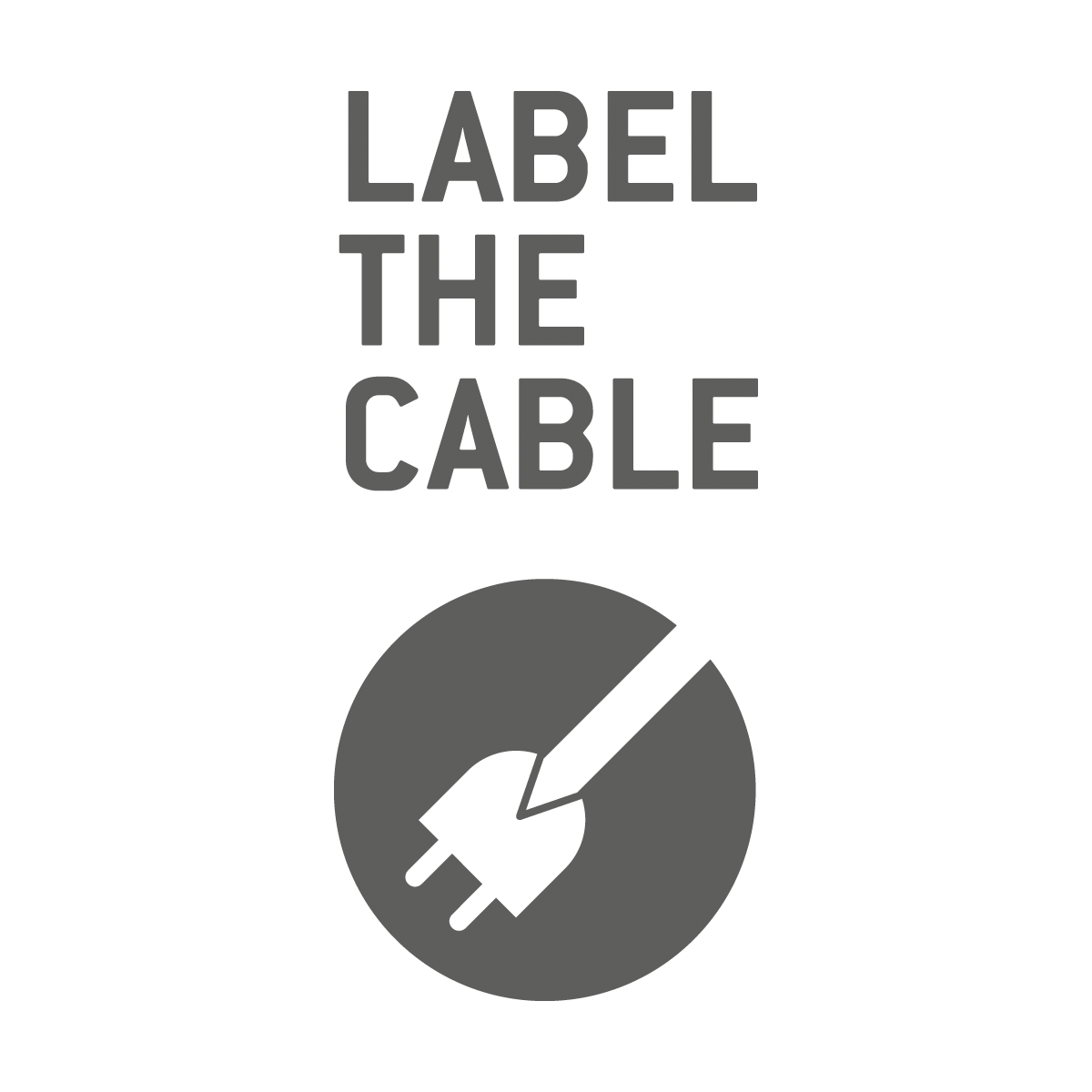Label-the-Cable Roll Strap - weiß