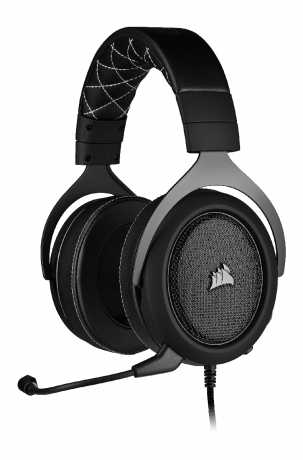 Corsair HS60 PRO Surround Carbon - kabelgebundenes Gaming-Headset  front left