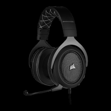 Corsair HS60 PRO Surround Carbon - kabelgebundenes Gaming-Headset  front left