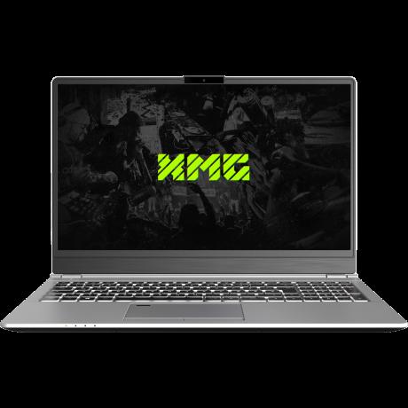 XMG DJ 15 front Laptop zum Auflegen