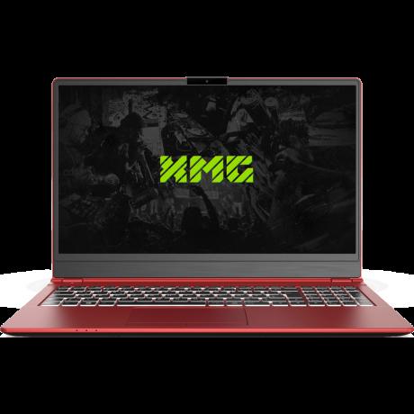 XMG DJ 15 RED front Laptop zum Auflegen
