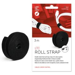 Label the Cable Roll Strap Kabelmanagement schwarz