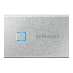1 TB Samsung Portable SSD T7 Touch silber - externe Festplatte