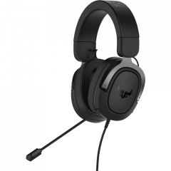 ASUS TUF Gaming H3 gun metal - kabelgebundenes Gaming-Headset front right
