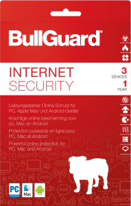 BullGuard Internet Security 2018, 3 User, 1 Jahr