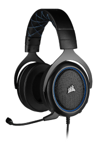 Corsair HS50 PRO Stereo Blue - kabelgebundenes Gaming-Headset front left