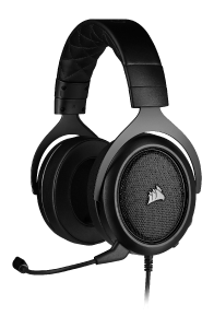 Corsair HS50 PRO Stereo Carbon - kabelgebundenes Gaming-Headset left