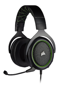 Corsair HS50 PRO Stereo Green - kabelgebundenes Gaming-Headset front left