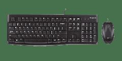 Logitech MK120 US International - kabelgebundene Tastatur-Maus-Set