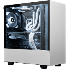 bestware NZXT H500 White Edition - Intel Core i5 | Desktop-PC | front left