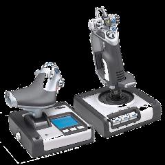 Logitech G Saitek X52 Flight System - HOTAS-Controller - Kombination