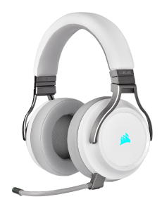 Corsair VIRTUOSO WHITE - kabelloses Gaming-Headset front left