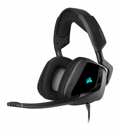 Corsair Void ELITE RGB Carbon - kabelgebundenes Gaming-Headset front left