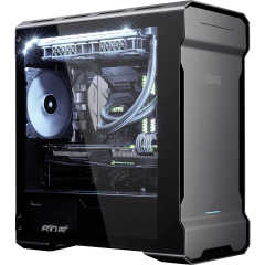 XMG TRINITY mATX - Intel Core | Desktop-PC | front left
