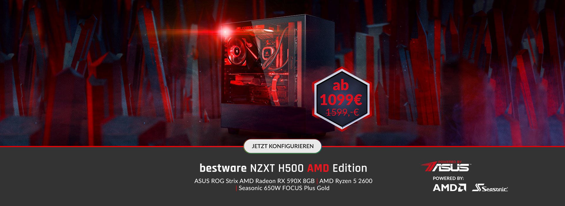 bestware NZXT H500 - AMD Edition