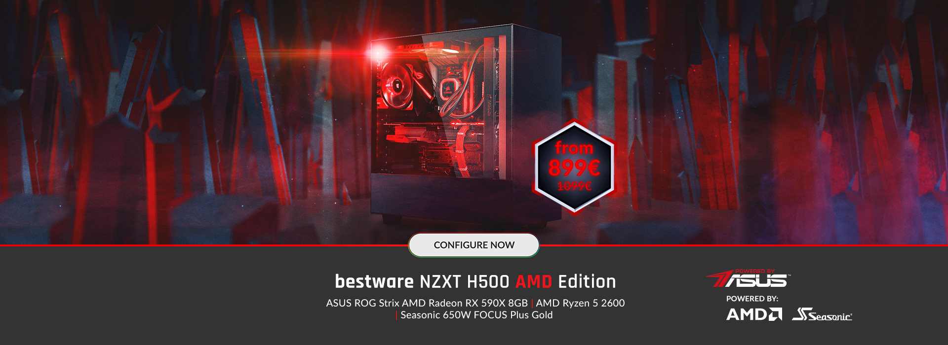 bestware NZXT H500 - AMD Edition