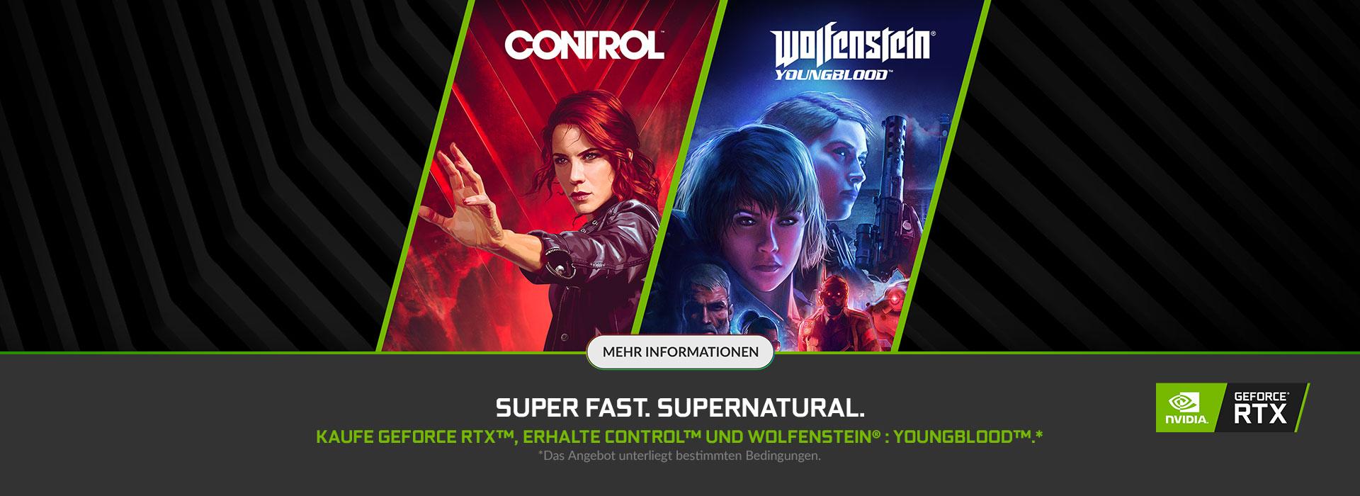NVIDIA GeForce RTX Super Fast. Super Natural. Bundle