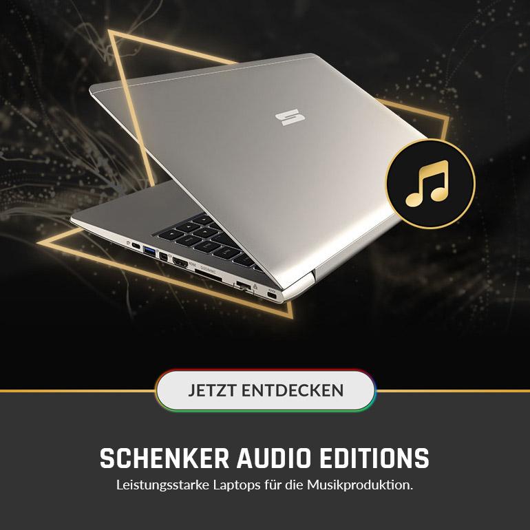 SCHENKER AUDIO EDITIONS - Leistungsstarke Laptops für die Musikproduktion