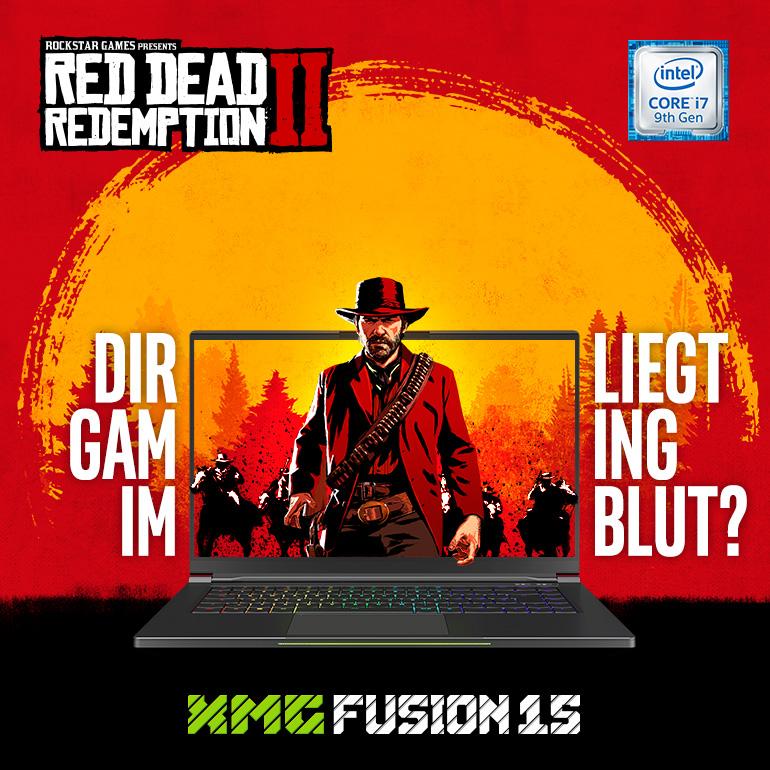 Red Dead Redemption 2 mit jedem XMG FUSION 15