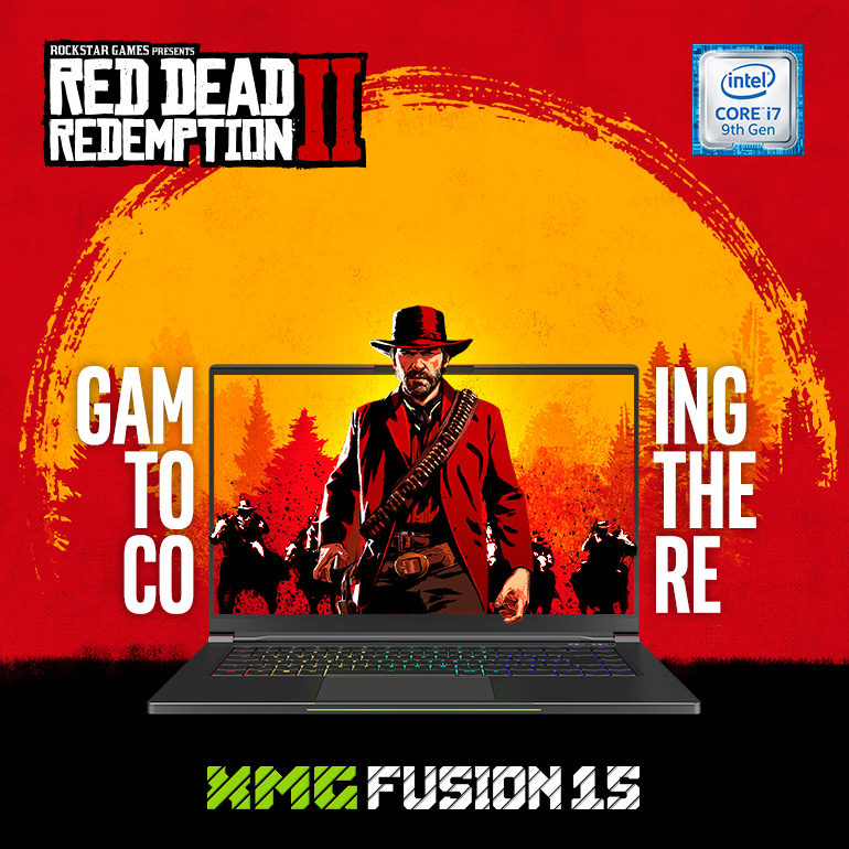 Red Dead Redemption 2 with every XMG FUSION 15