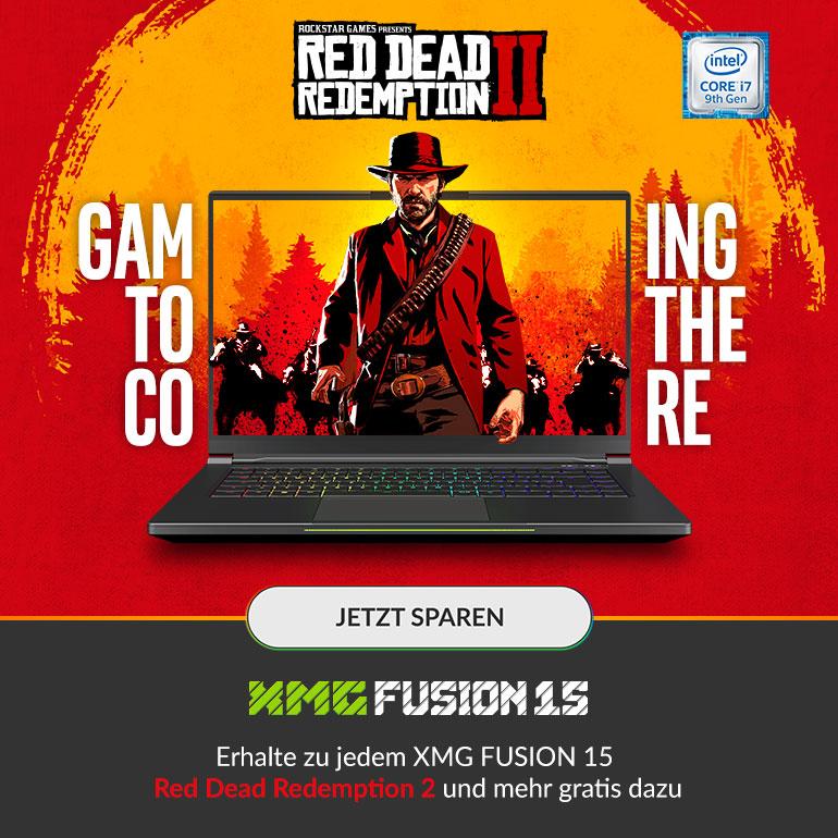 Red Dead Redemption 2 zu jedem XMG FUSION 15