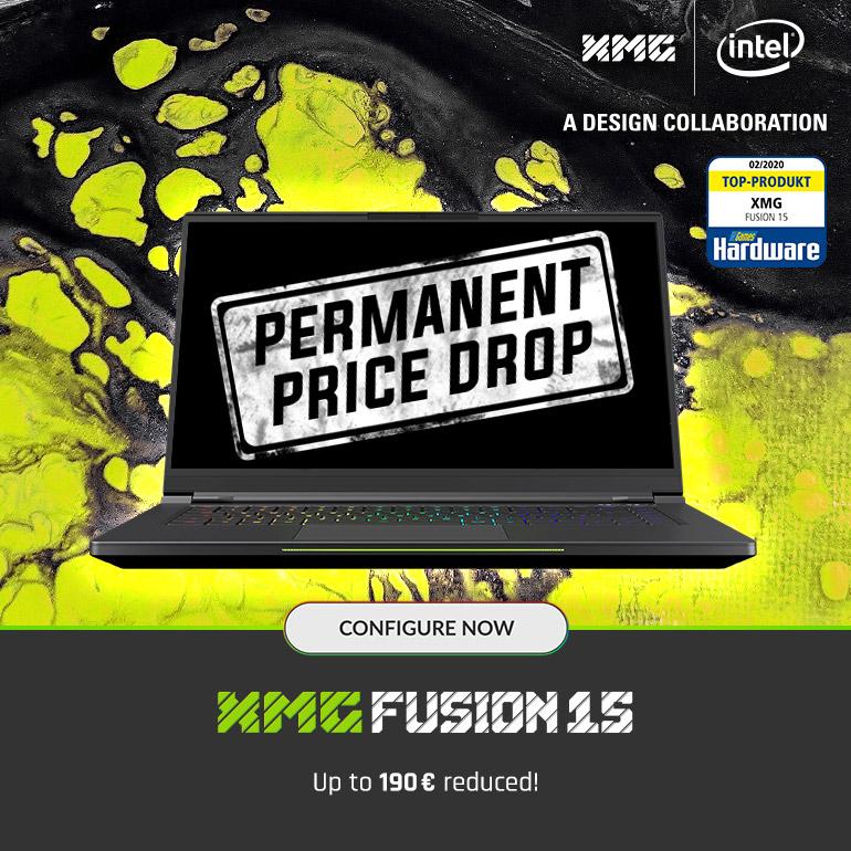 XMG FUSION 15 Gaming Laptop Price Drop