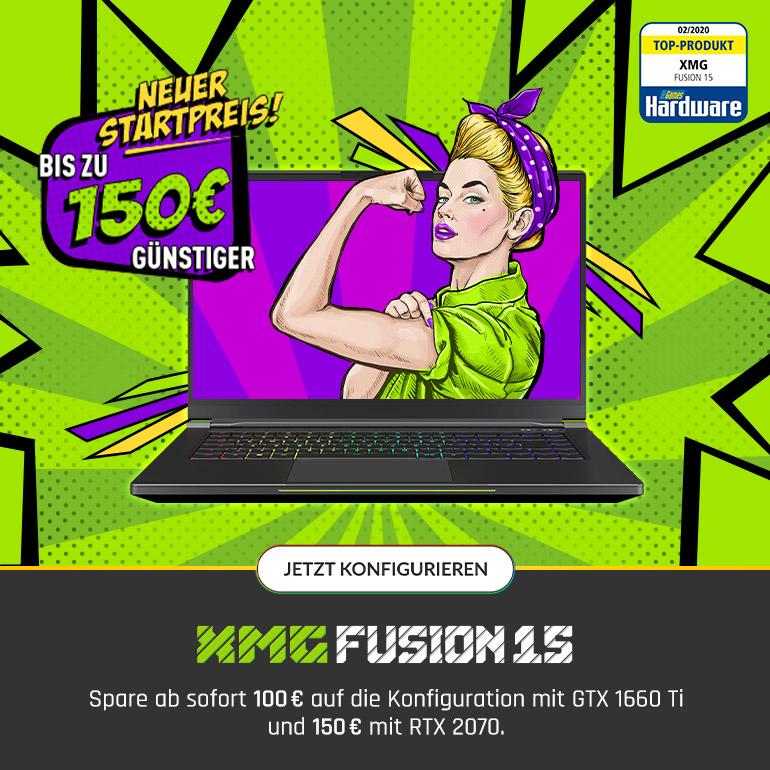 XMG FUSION 15 - Jetzt bis zu 150 € günstiger!