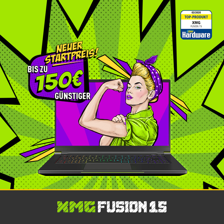 XMG FUSION 15 Preissenkung