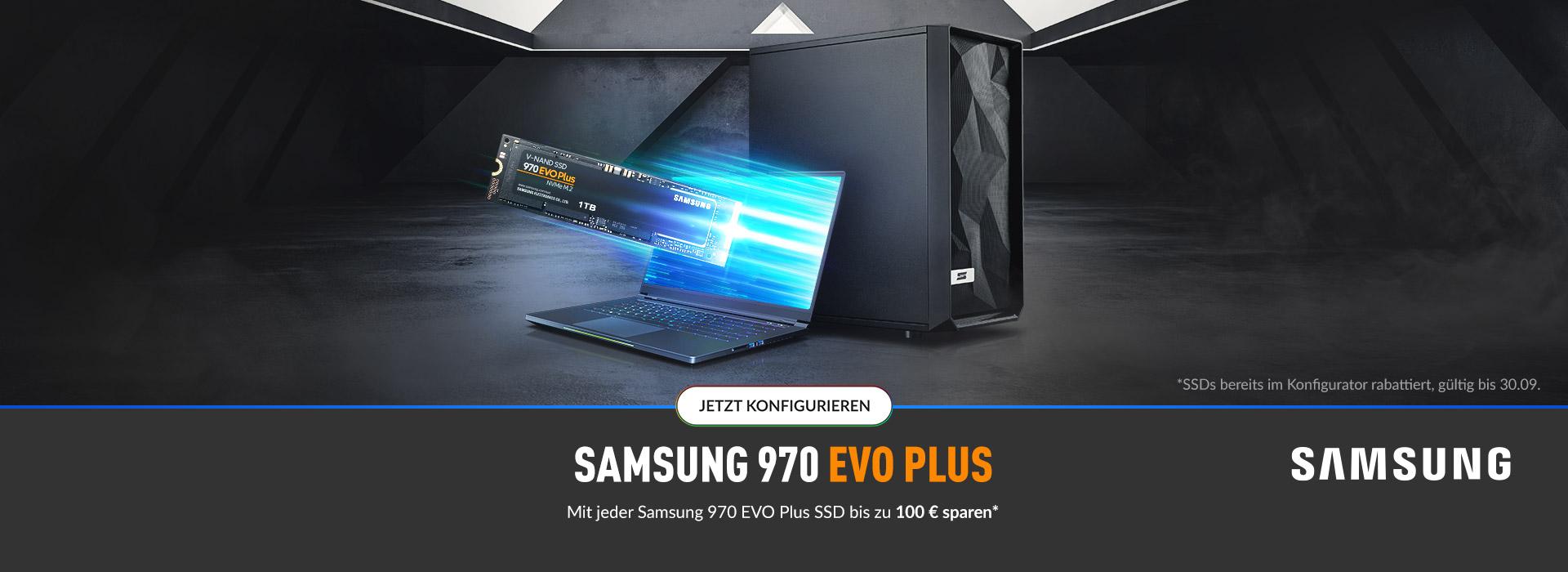 Mit jeder Samsung 970 EVO Plus bis zu 100 € sparen