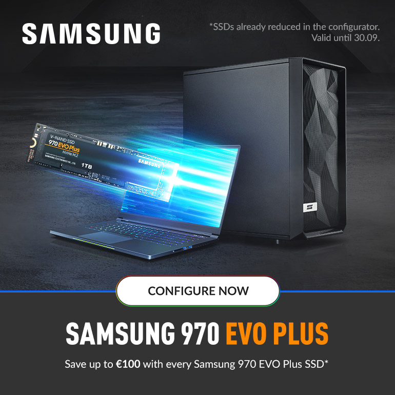 Save up to €100 with every Samsung 970 EVO Plus SSD