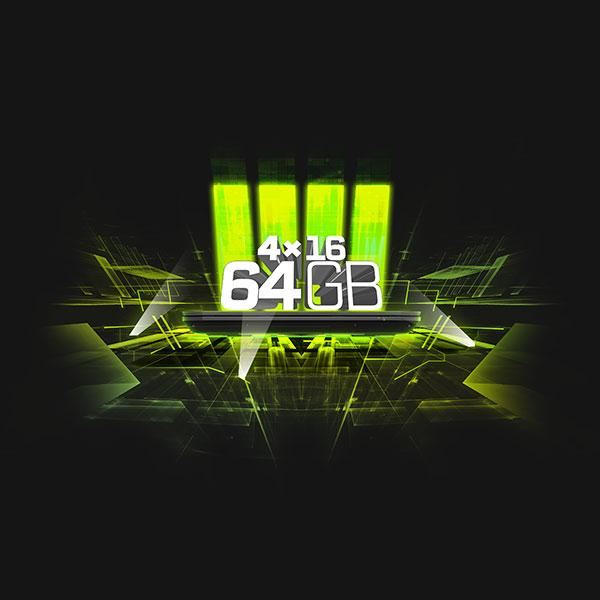 64 GB Arbeitsspeicher