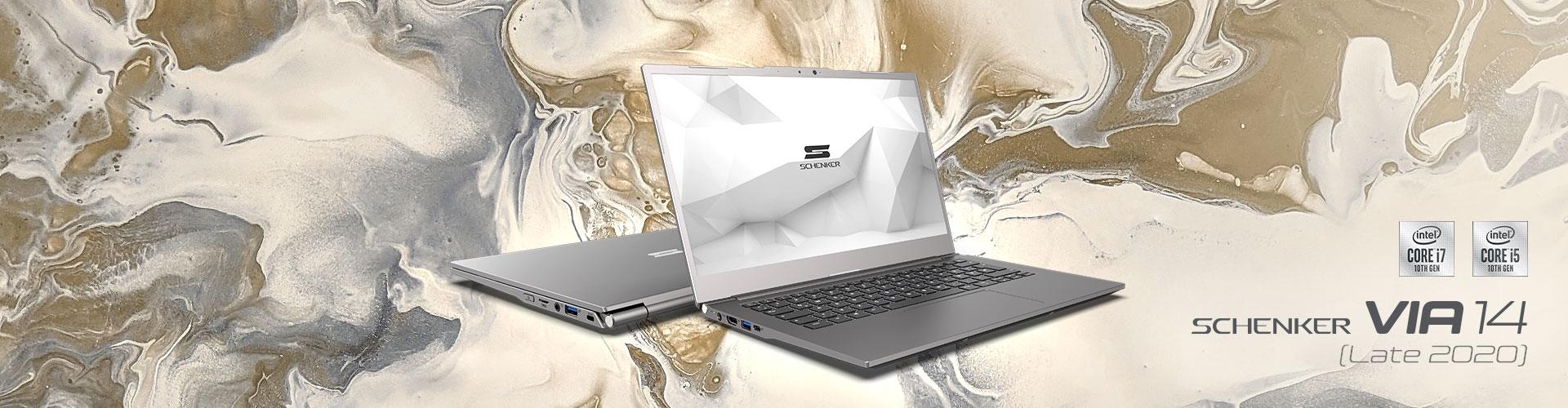 SCHENKER VIA 14 (LATE 2020) Ultrabook mit bis zu 14 Stunden Akkulaufzeit