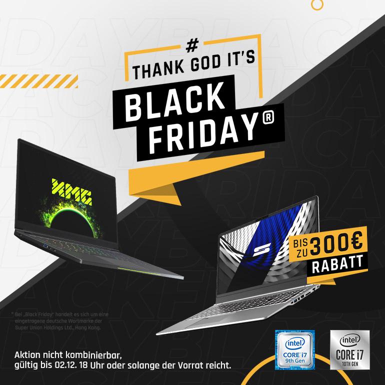 bestware Black Friday XMG SCHENKER Laptop Kategorie Banner