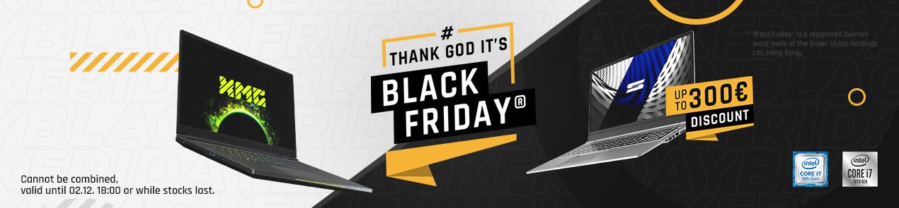 bestware XMG SCHENKER Black Friday Laptop Kategorie Banner