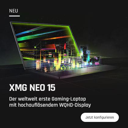 XMG DJ 15 Laptop zum Auflegen Home Banner