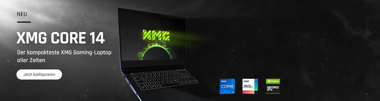 XMG CORE 14 - der kompakteste XMG Gaming-Laptop aller Zeiten