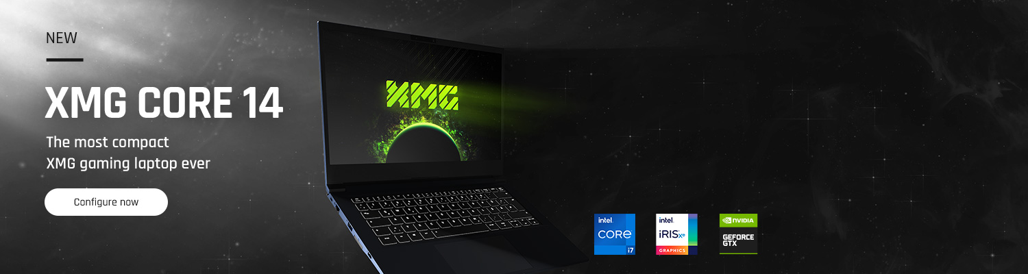 XMG CORE 14 - the most compact XMG gaming laptop ever