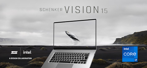 SCHENKER VISION 15 Laptop with multitouch display