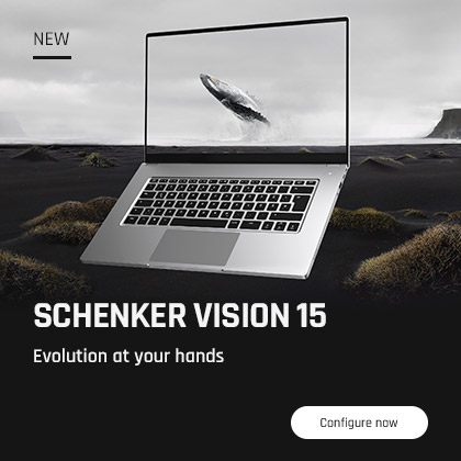 SCHENKER VISION 15 - Evolution at your hands