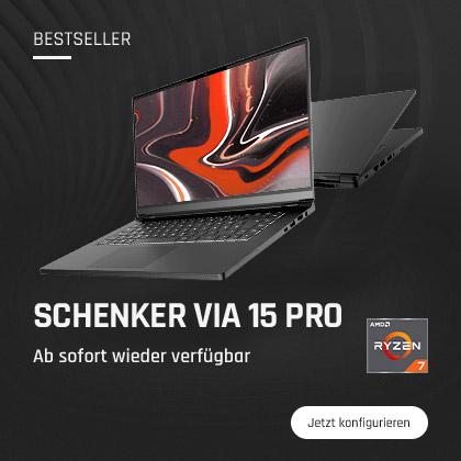 SCHENKER VIA 15 Pro wieder auf bestware verfügbar