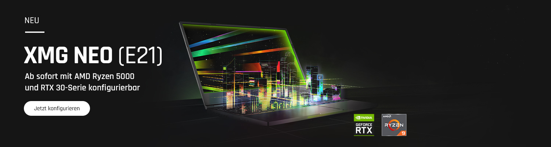 XMG NEO (E21) Gaming-Laptops jetzt konfigurieren