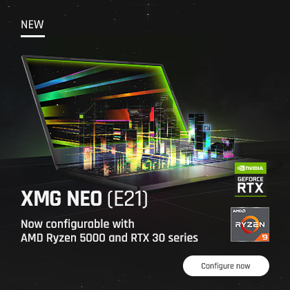 NEW: XMG NEO (E21) now configurable