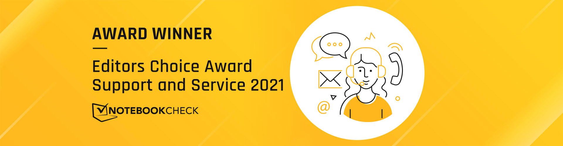 Notebookcheck award for highest customer satisfaction 2021
