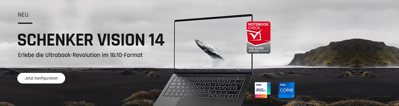 SCHENKER VISION 14 - Erlebe die Ultrabook-Revolution im 16:10-Format