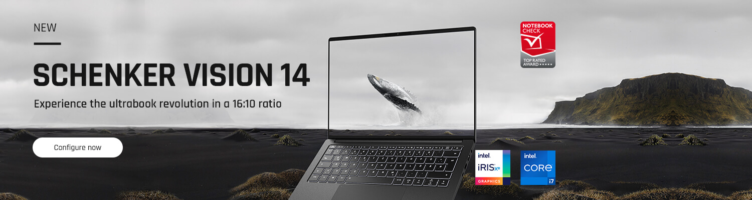SCHENKER VISION 14 - Experience the ultrabook revolution in a 16:10 ratio