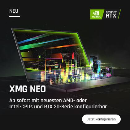 XMG NEO Gaming-Laptops jetzt konfigurieren