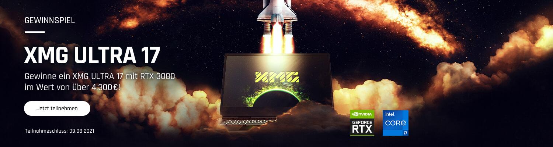 XMG ULTRA 17 Gewinnspiel Top Banner
