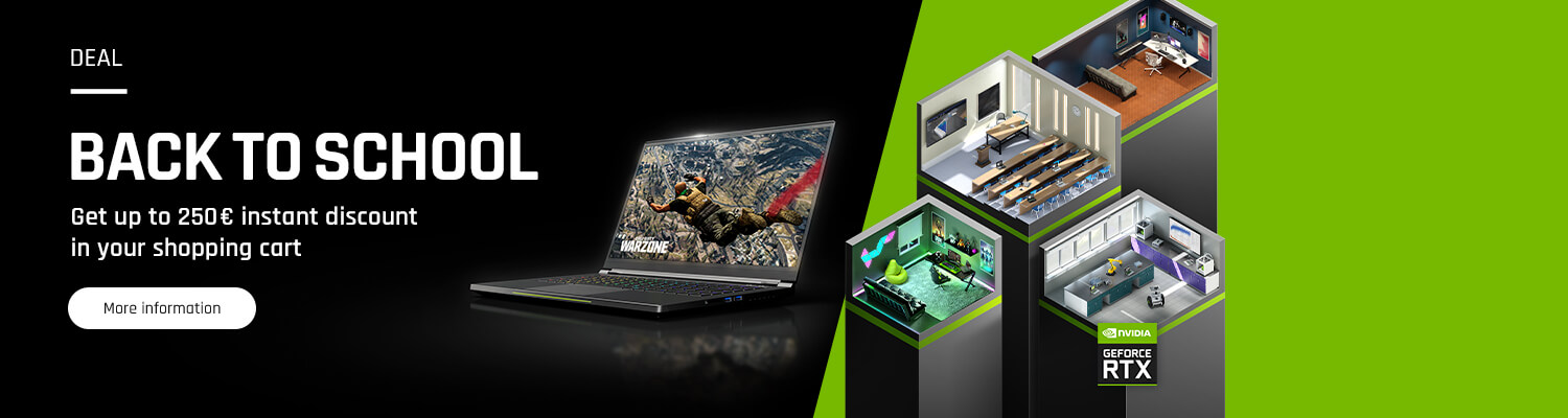 NVIDIA Back to School - Up to 250€ instant discount