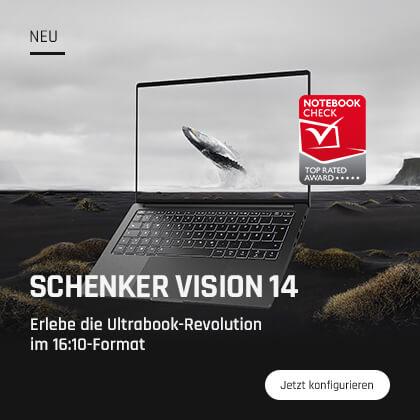 SCHENKER VISION 14 - Erlebe die Ultrabook-Revolution im 16:10-Format ab jetzt mit GeForce RTX