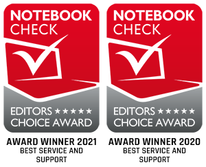 Service and Support Award Winner 2021 Notebookcheck